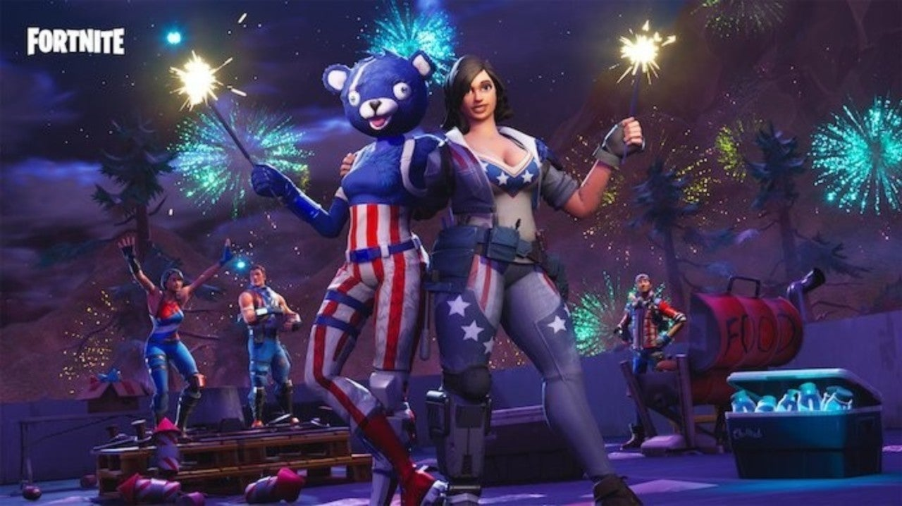 Fortnite 14 Days of Summer Challenge: Launch Fireworks Along