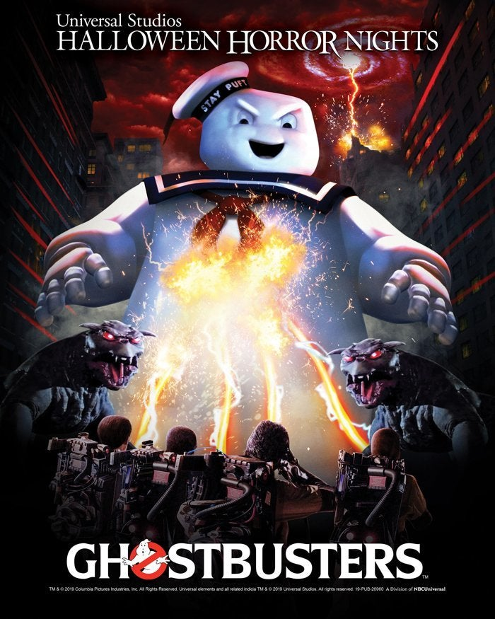 ghostbusters halloween horror nights poster