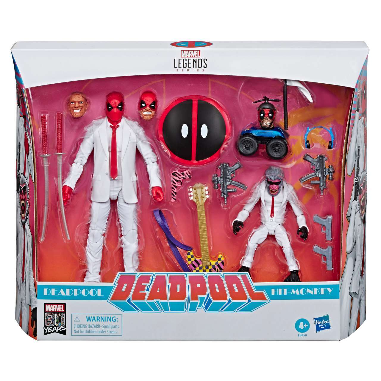 HASBRO MARVEL LEGENDS SERIES 80TH ANNIVERSARY 6-INCH DEADPOOL & HIT MONKEY 2-PACK (in pck)