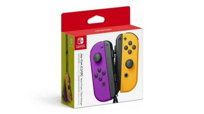 joy con purple and orange hed