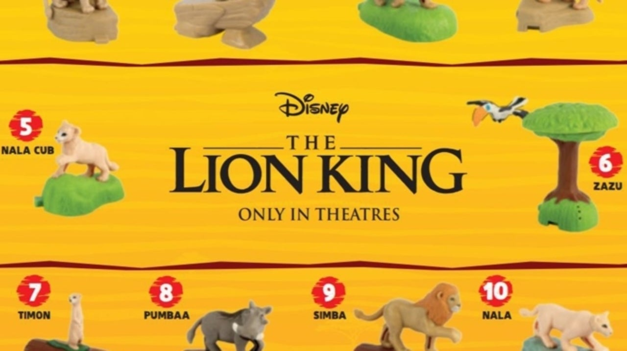 Mcdonald S Unveils The Lion King Happy Meal Toys