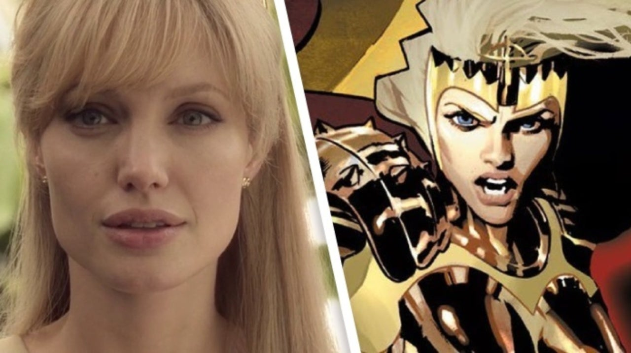 First Marvel's Eternals Set Photos Reveal Angelina Jolie As Blonde-Haired Thena