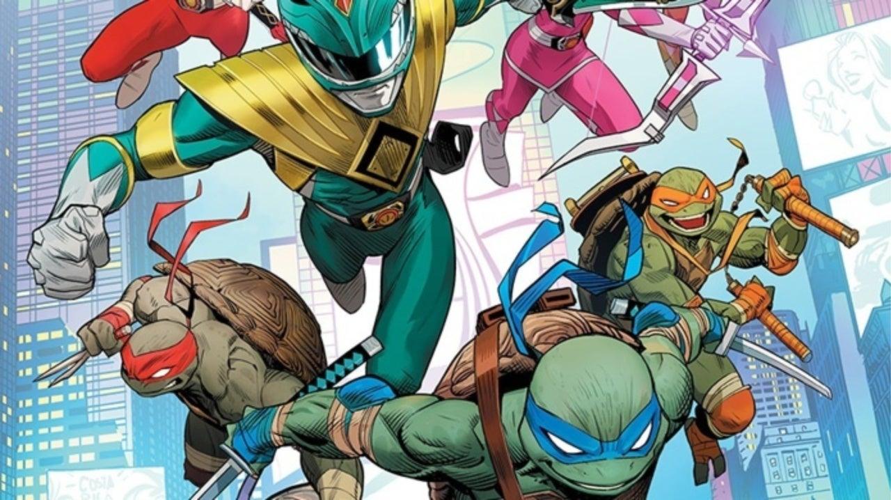 Mighty Morphin Power Rangers Team Up With the Teenage Mutant Ninja Turtles in New Comic Series
