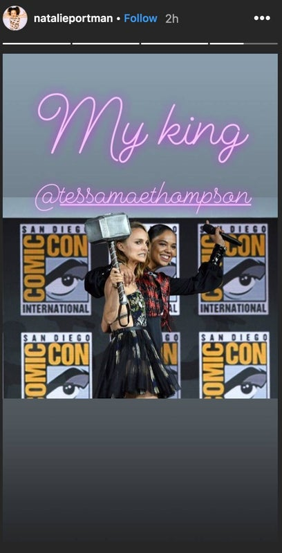 natalie portman instagram thor love and thunder