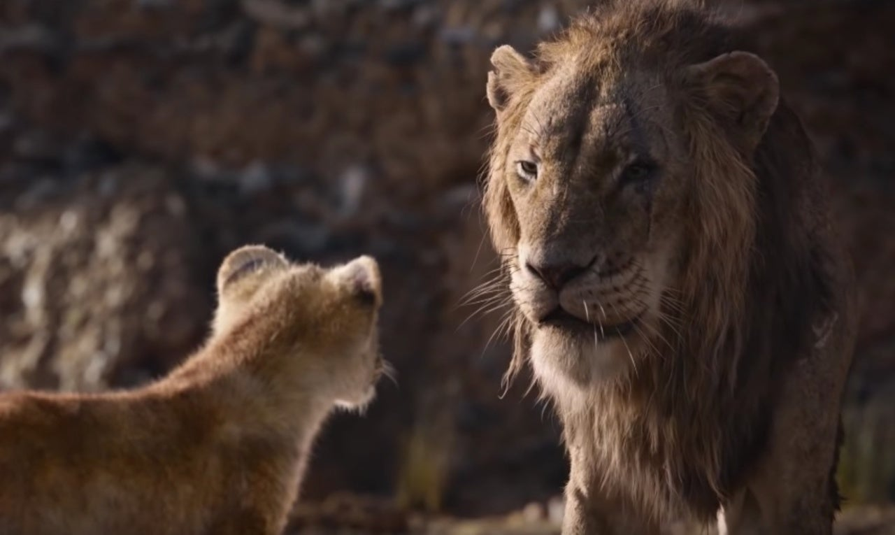 Disneys The Lion King Clip Shows Iconic Simba Scar Moment