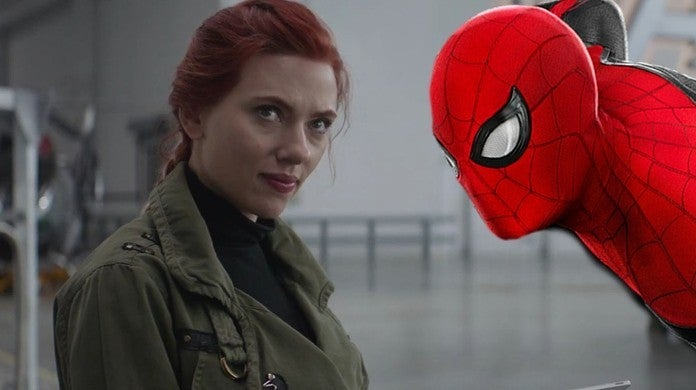 spider-man far from home black widow reference