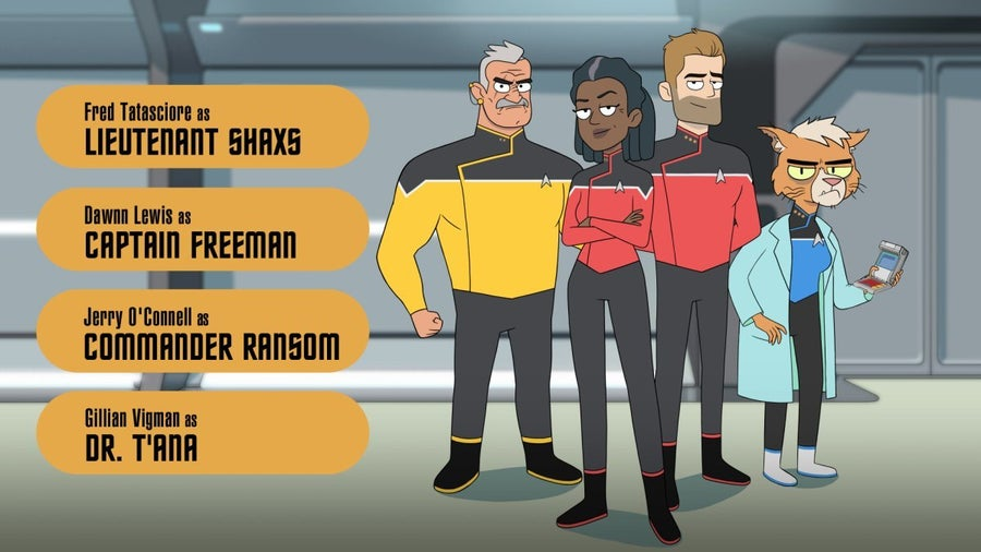 Star Trek Lower Decks Bridge Crew