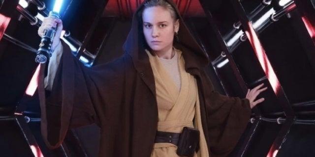 "Captain Marvel Star Brie Larson Shows Off Her ""Jedi Realness"""