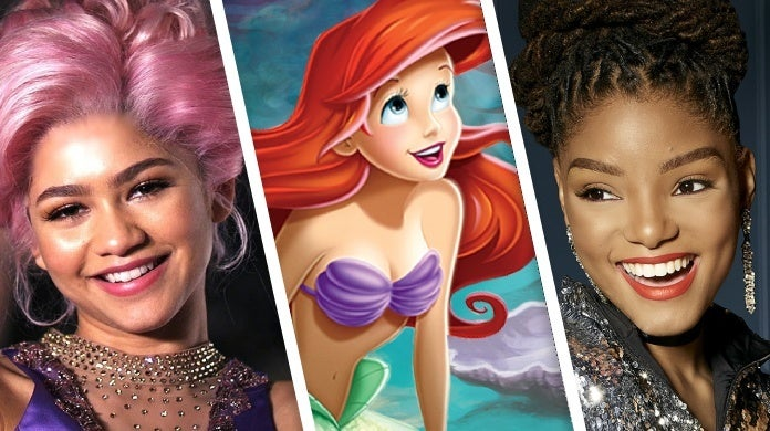 the little mermaid halle bailey zendaya