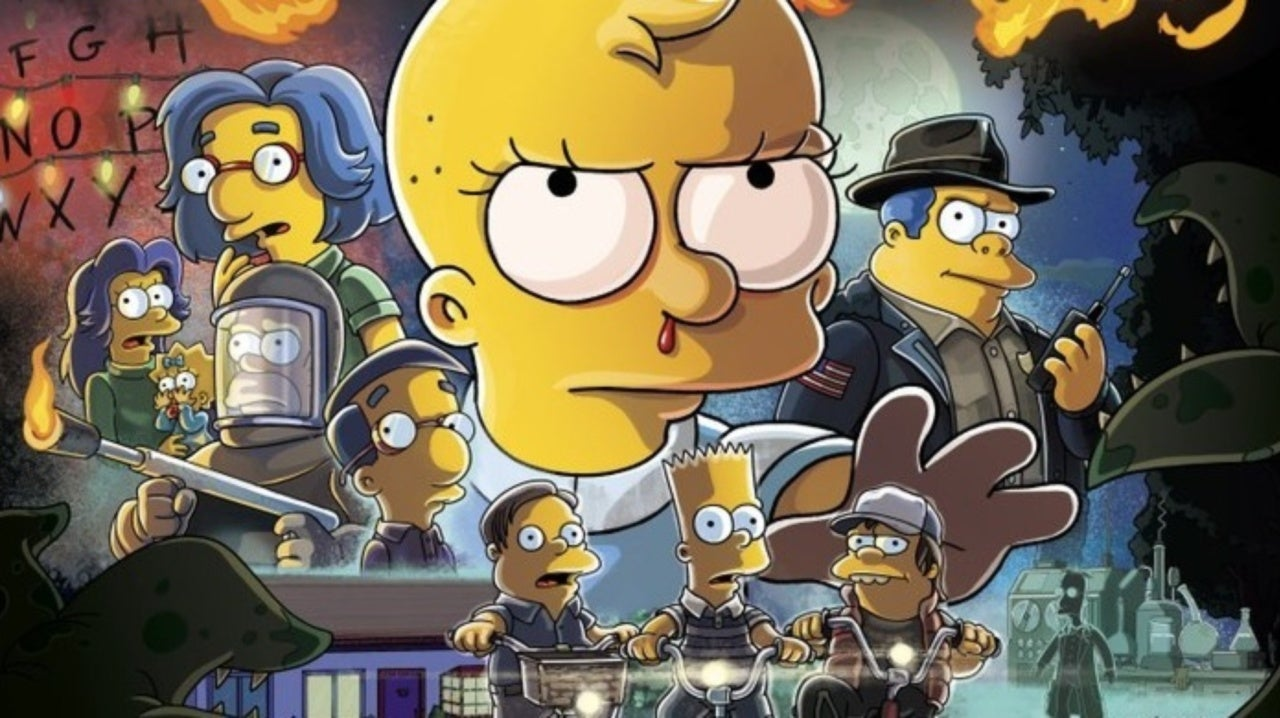 The Simpsons Treehouse Of Horror Poster Parodies Shape Of Water And Stranger Things