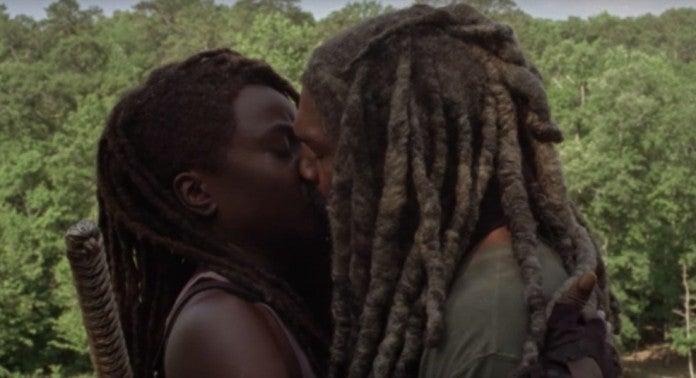 The Walking Dead Michonne Ezekiel kiss