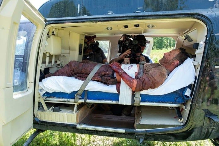 The Walking Dead Rick helicopter