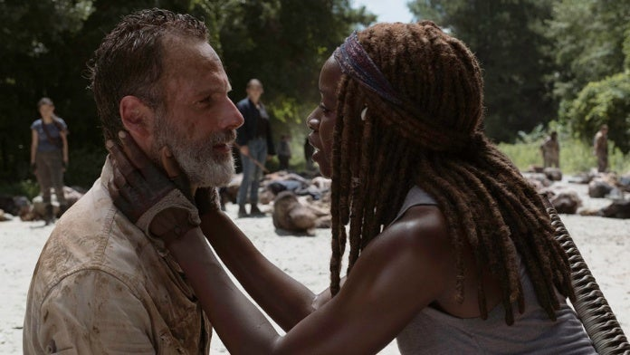 The Walking Dead season 9 Rick Michonne