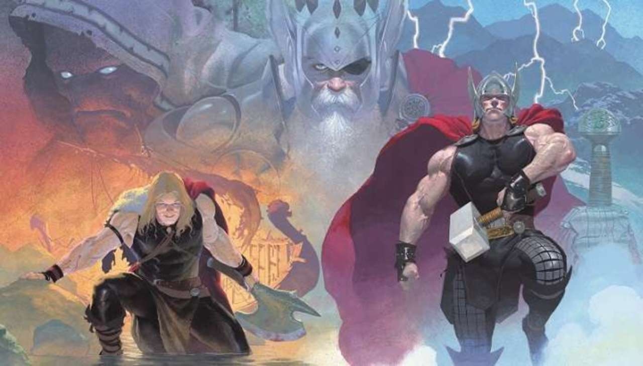 SIGNED BY ESAD RIBIC! 9.0 OR BETTER THOR GOD OF THUNDER #9