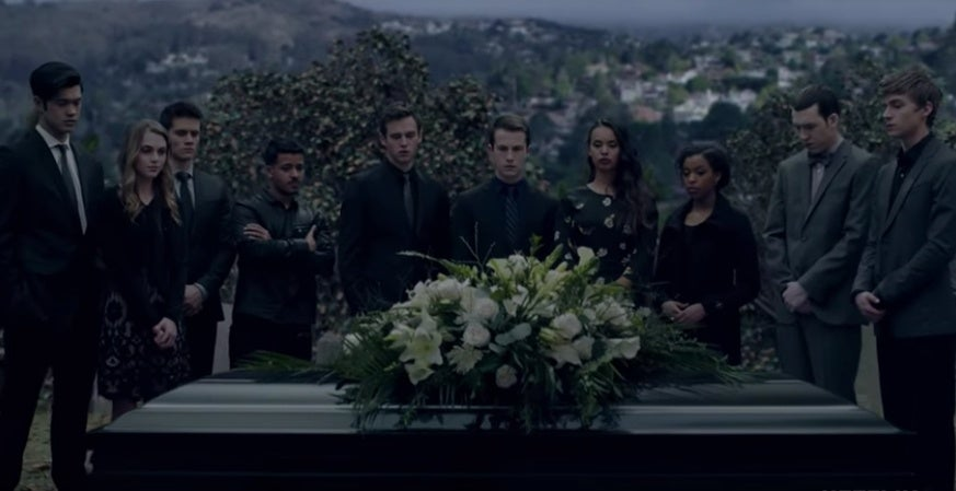 13 reasons why funeral trailer