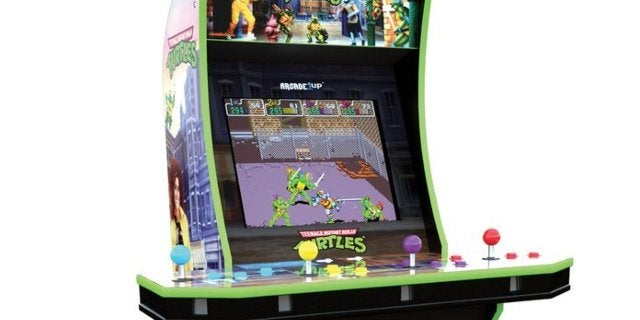 The Teenage Mutant Ninja Turtles 4-Player Arcade1Up Cabinet is Back