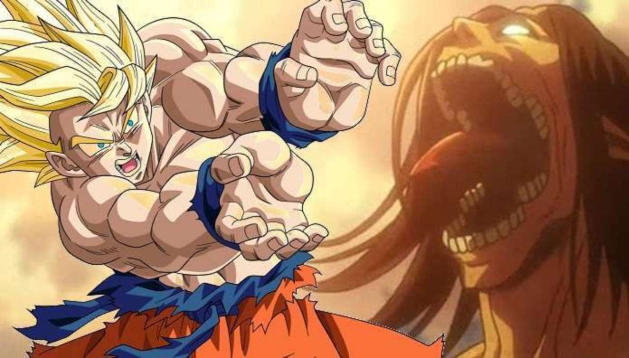 Attack On Titan Meets Super Saiyan Goku in New Fan-Crossover