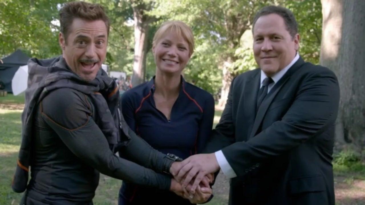 Marvel Stars Robert Downey Jr. and Jon Favreau Reunite at D23 Expo