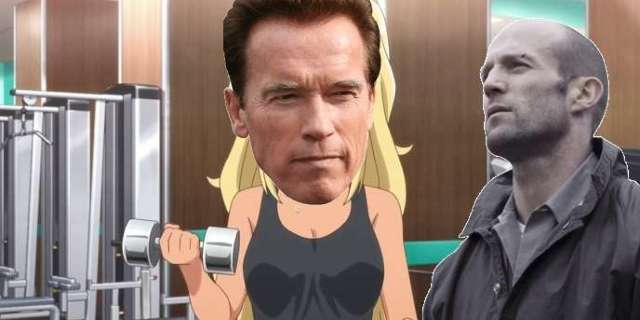 A Bodybuilding Anime Just Debuted The Best Arnold Schwarzenneger, Jason Statham Cameo
