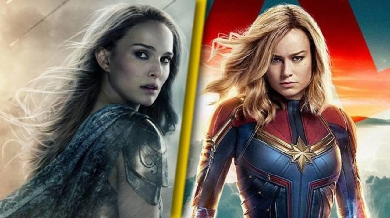 Thor: Love and Thunder Star Natalie Portman Has Perfect Response to Brie Larson's Mjolnir Photo