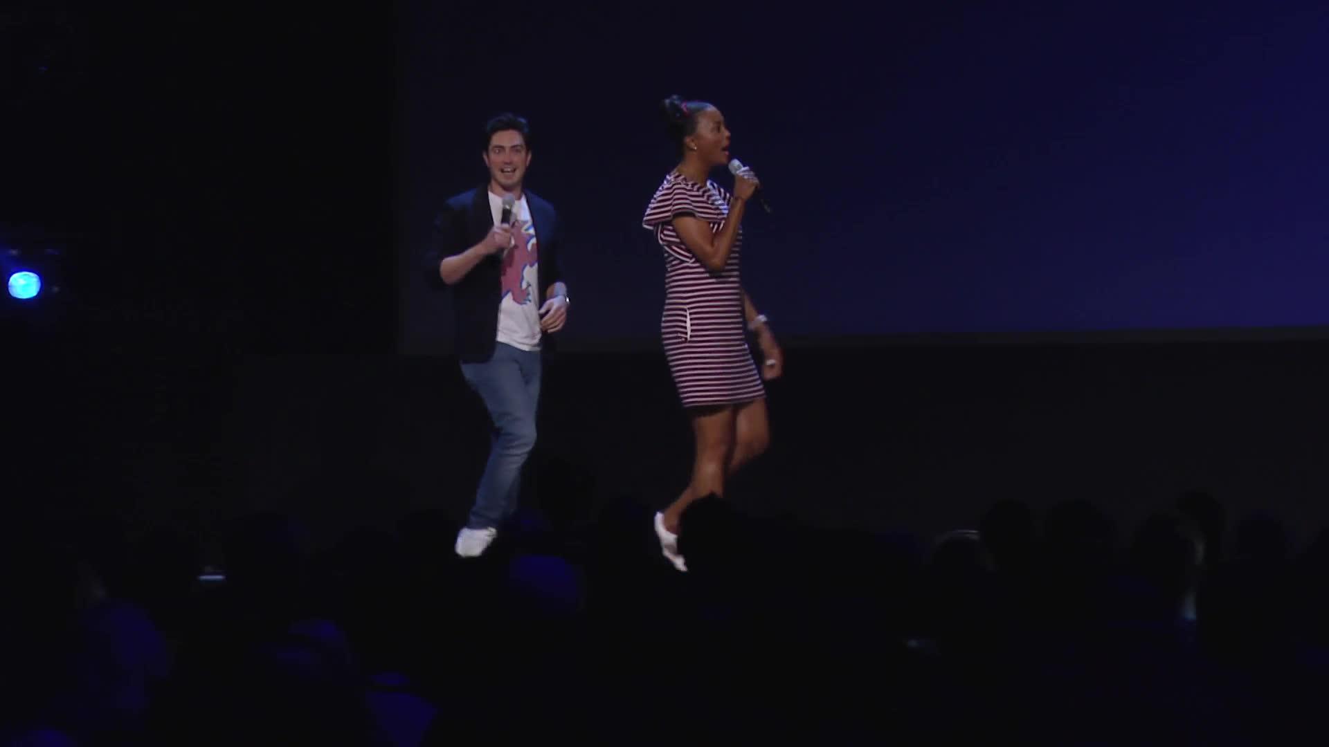 D23 Expo 2019 - Disney+ Showcase Presentation B-roll [HD] screen capture