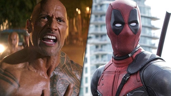 dawyne the rock johnson deadpool hobbs fight