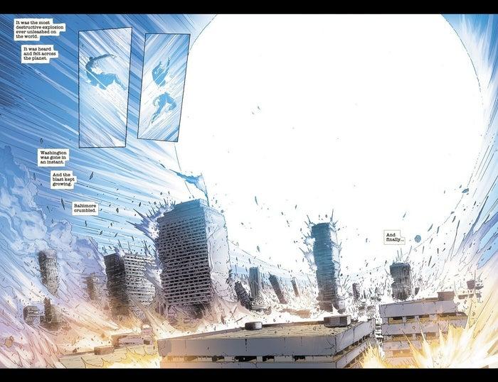 DCeased 4 Metropolis Destroyed Captain Atom