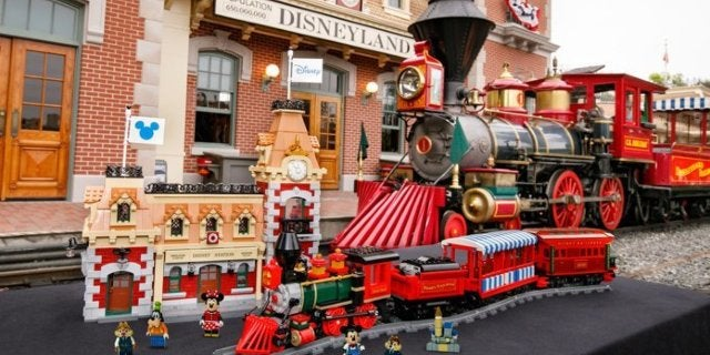 The Disney Parks Train and Station Gets a Motorized LEGO Set