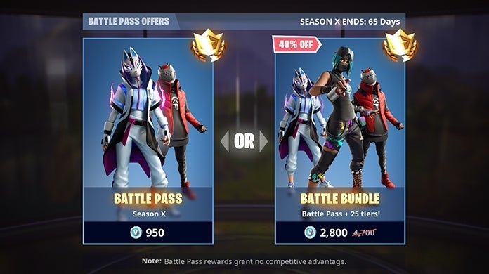 Fortnite Season X Battle Pass Cost