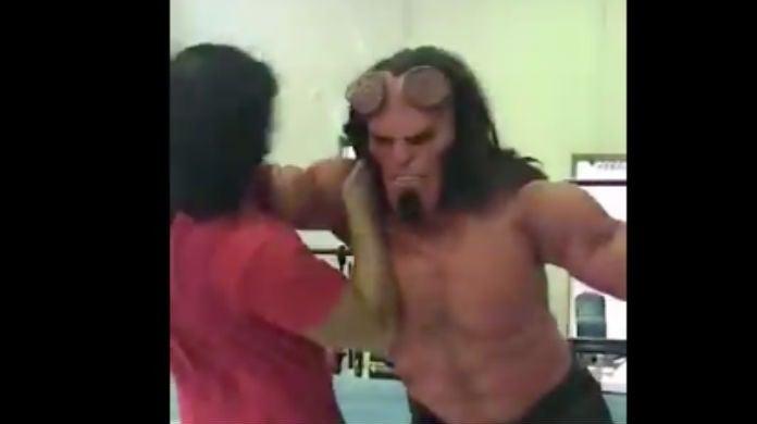 Hellboy-wrestler