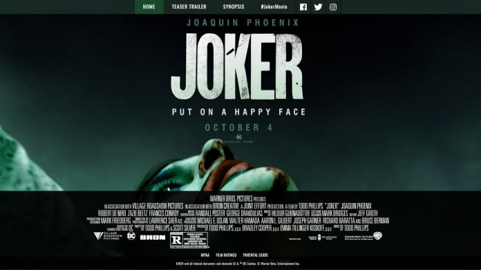 Joker Movie R Rating