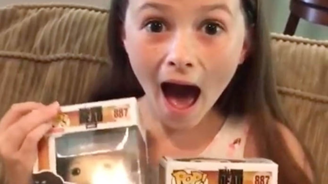 The Walking Dead Star Unboxes First Judith Grimes Pop! Figure in Adorable Video