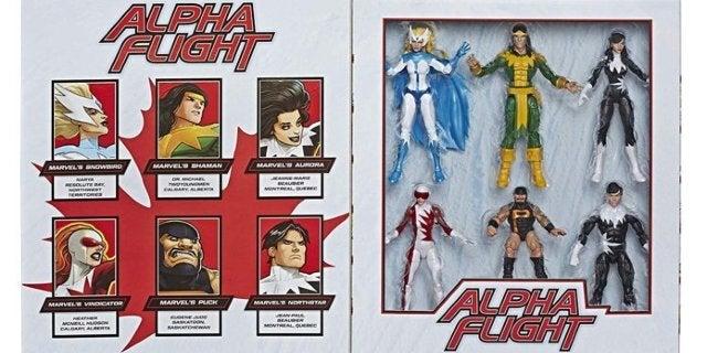 Hasbro's Marvel Legends Alpha Flight Canadian Superhero Figures Come in a Glorious 6-Pack