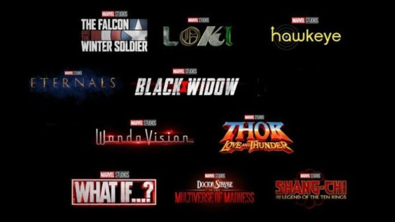Marvel Studios MCU Phase 4 Schedule