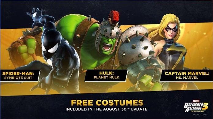 Marvel Ultimate Alliance Free Costumes
