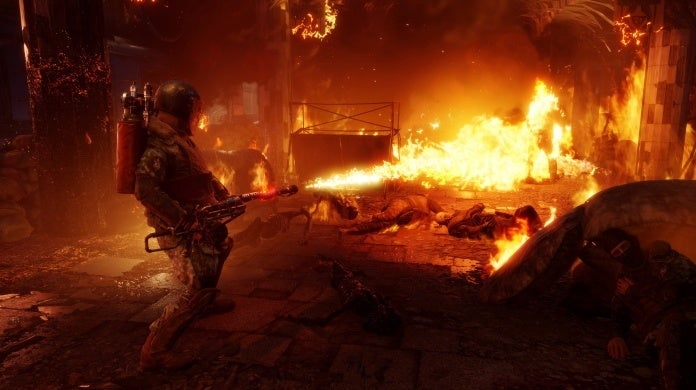 metro exodus two colonels flamethrower