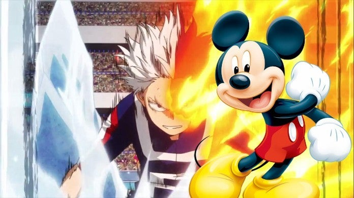 My Hero Academia Todoroki vs Izuku Deku Disney Live Show Meme