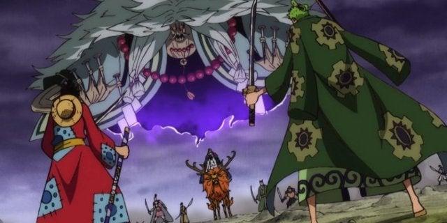One Piece Luffy Zoro Hawkins Battle Wano