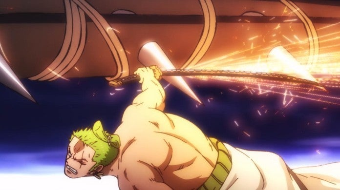 One Piece Zoro Hawkins Fight Wano