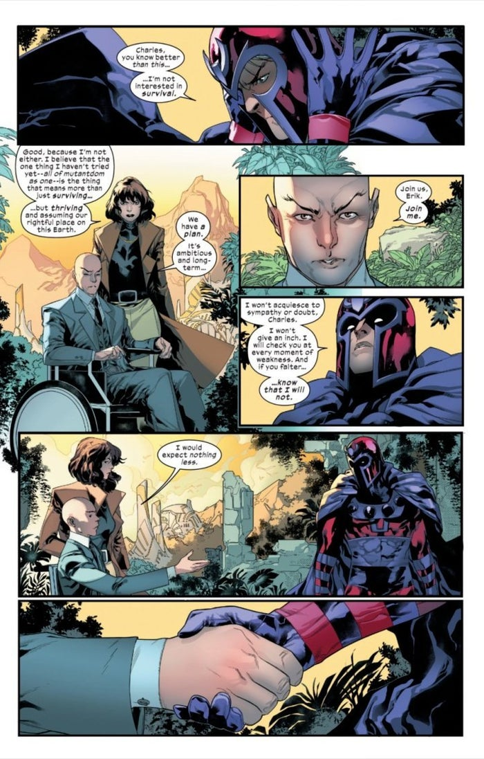 Powers of X 2 Xavier Magneto Rivalry partnership Retcon