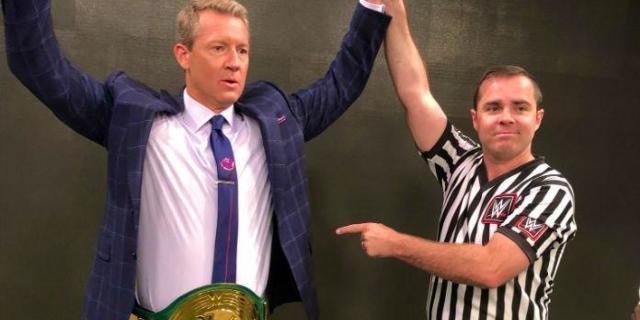 Watch: Fox Sports Analyst Rob Stone Wins WWE 24/7 Championship, Drops it Back to Elias