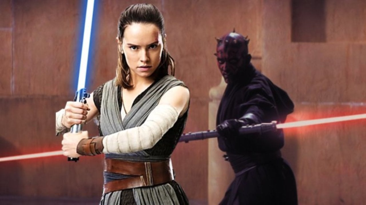 Star Wars The Rise Of Skywalker D23 Footage Reveals Rey With Double Bladed Red Lightsaber