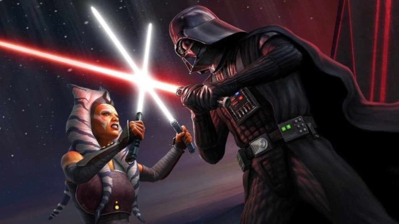 Star Wars Fan Art Gorgeously Captures Darth Vader vs Ahsoka Tano Duel