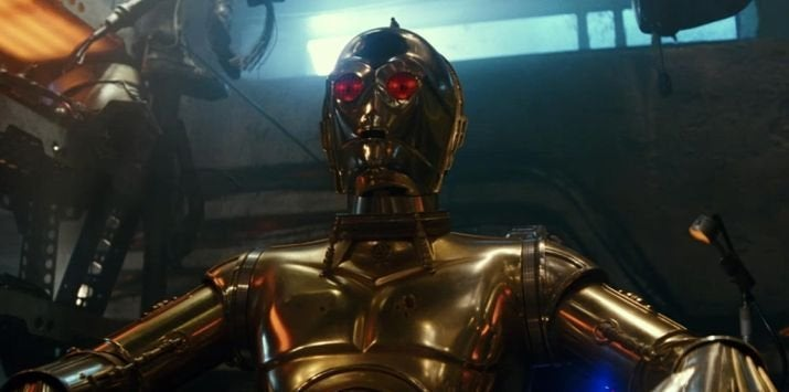 Star Wars The Rise of Skywalker D23 Trailer C-3PO Red Eyes