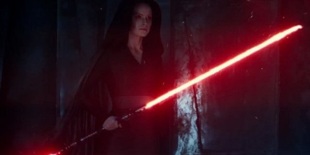 star wars the rise of skywalker rey daisy ridley lightsaber