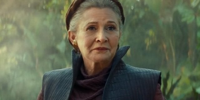 star wars the rise of skywalker trailer leia carrie fisher
