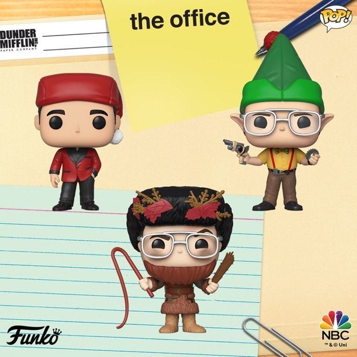 the-office-christmas-funko-pops