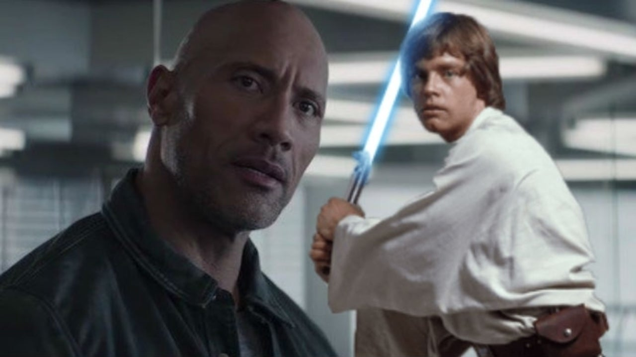 Star Wars' Mark Hamill Shares What Luke Skywalker Looks Like With The Rock's Body