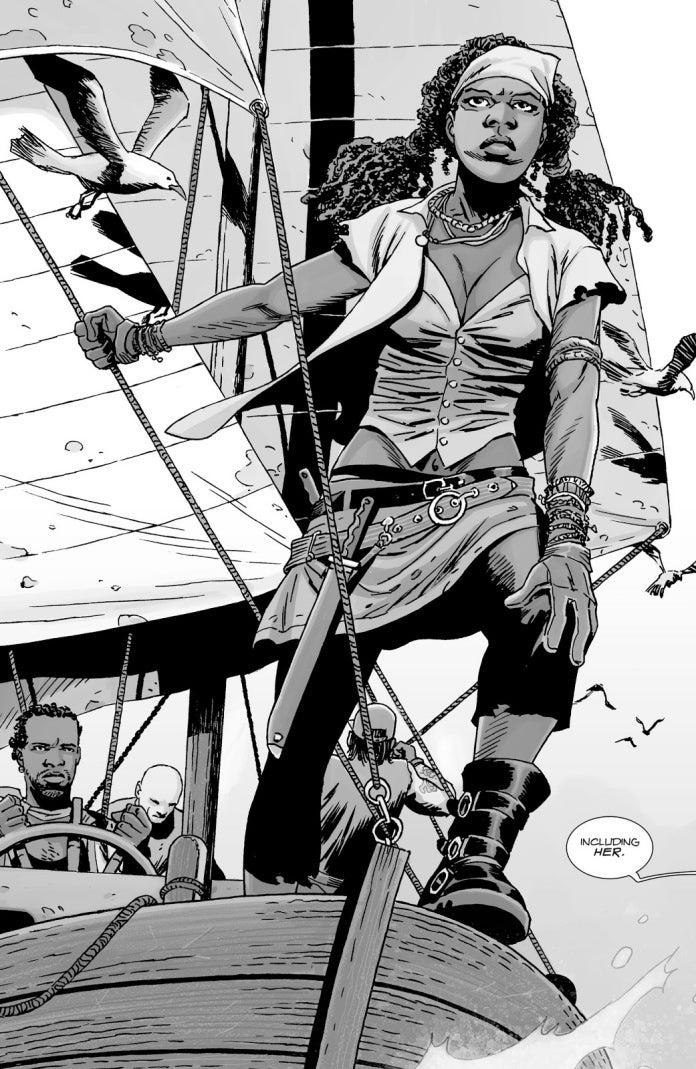 The Walking Dead Michonne fisherwoman