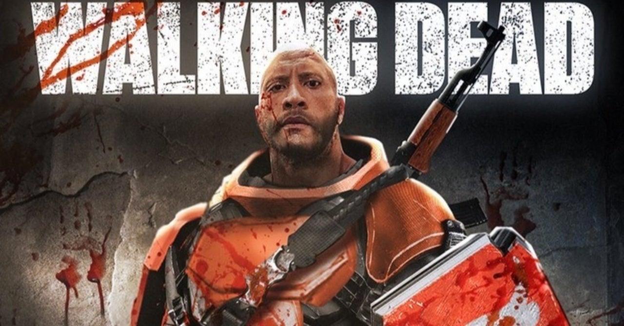 The Walking Dead Fan Art Imagines The Rock as Mercer